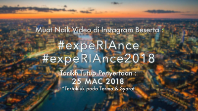 Jom join sekarang #expeRIAnce2018