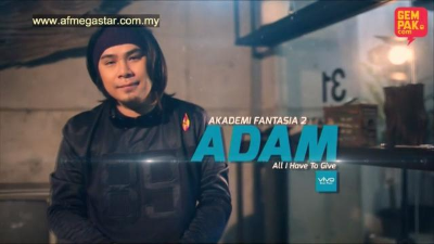 Konsert AF Megastar Minggu 1 : Adam - All I Have To Give