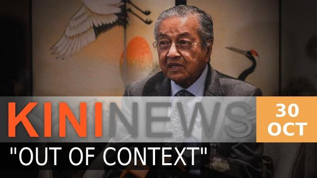 #KiniNews: Dr M claims remarks on France misrepresented; Twitter deletes post