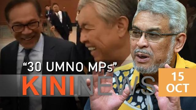 #KiniNews: Zahid pledged support of 30 Umno MPs for Anwar, claims Khalid